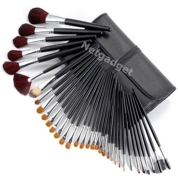 34x pinceaux de maquillage brosses netgadget - Pinceaux maquillage utilisation ...